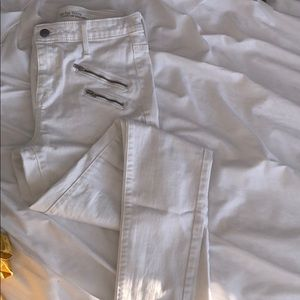 Mossimo High Rise Skinny White Jeans - Sz 2